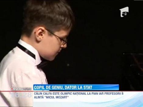 Un copil în vârstă de 12 ani, geniu al pianului, somat de FISC să-şi plătească drepturile de autor în valoare de 13 lei