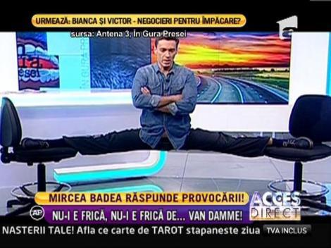 Mircea Badea a primit o provocare: a făcut sfoara ca Jean-Claude Van Damme!