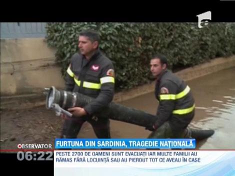 Furtuna din Sardinia, tragedie naţională