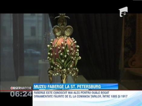 Primul muzeu dedicat renumitului bijutier Fabergé, deschis la Sankt Petersburg