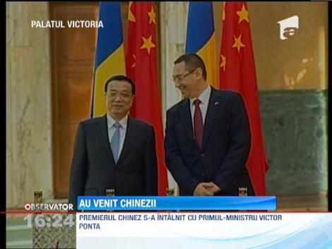 Premierul Chinei, Li Keqiang, a ajuns in Romania