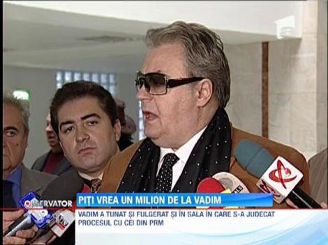 Victor Piţurcă îi cere lui Vadim Tudor un milion de euro daune şi scuze publice
