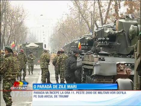Parada militară din anul acesta, cea mai mare din ultimii ani