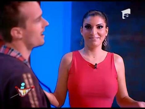 Provocarea: Andreea Tonciu, glume pe seama nasului ei