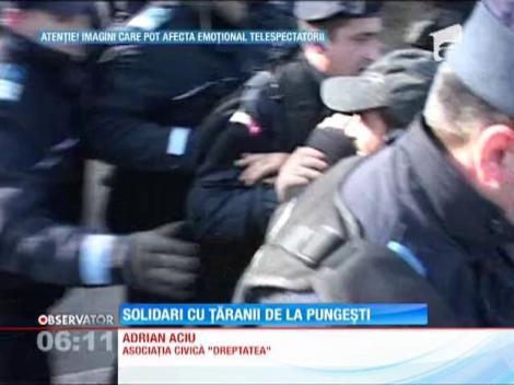 Protestarii din Capitală sunt solidari cu cei din Pungeşti