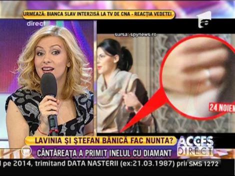 Ștefan Bănică i-a făcut cadou Laviniei un inel cu diamant!