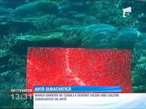 Marea Barieră de Corali a devenit gazda unei galerii subacvatice de artă