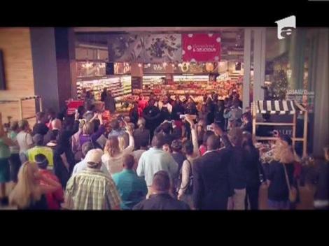 SPECIAL! Omagiu inedit pentru Nelson Mandela: flashmob intr-un magazin alimentar