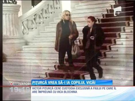 Victor Piţurcă atacă din nou! Vrea să-i ia copilul Vicăi Blochina