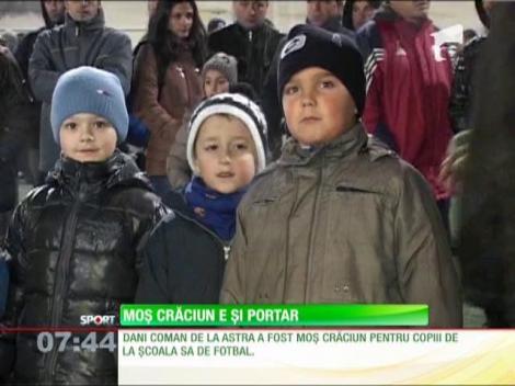 Dani Coman, Moş Crăciun de la şcola sa de fotbal