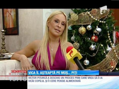 Vica Blochina ar vrea să cadă la pace cu Piţurcă, de dragul copilului