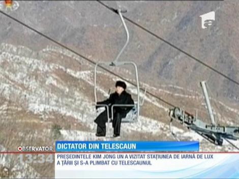 Liderul din Coreea de Nord, Kim Jong-un, a vizitat prima staţiune de schi de lux a ţării
