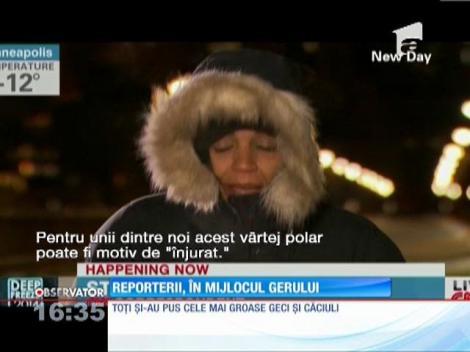 Reporterii, in mijlocul vârtejului arctic
