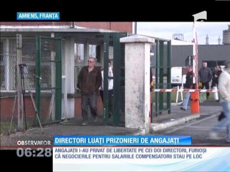 Muncitorii unei fabrici de anvelope din Franţa au luat prizonieri doi directori