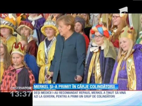 Angela Merkel s-a întors la lucru