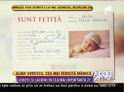 Alina Sorescu și Anca Serea au născut în aceeaşi zi