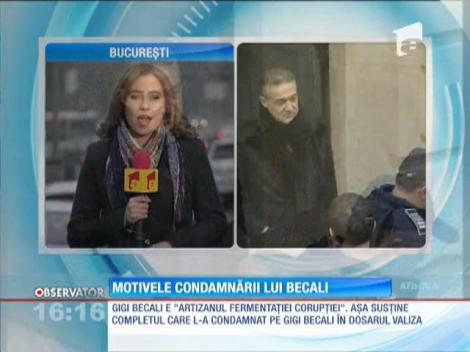 Motivele condamnării lui Gigi Becali