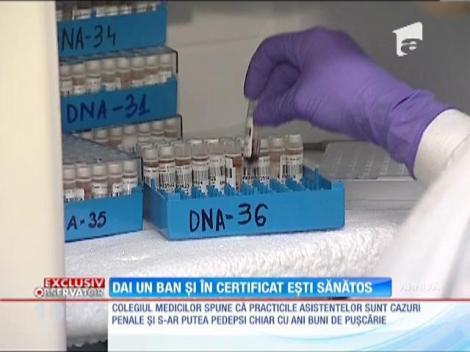 Asistentele din mai multe policlinici din Bucureşti fac adevărate afaceri cu certificatele prenupţiale