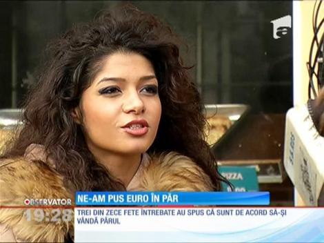 Sute de euro pentru câţiva zeci de centimetri de păr