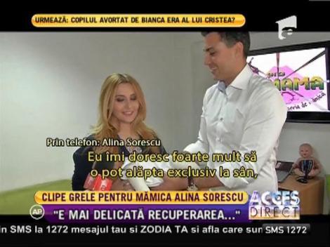 Clipe grele pentru mămica Alina Sorescu