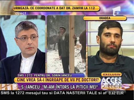 """Sorin Ianceu, unul dintre medicii supravieţuitori: """"Am crezut că salvatorii erau un miraj"""""""