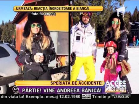 Andreea Bănică, adrenalină pe pârtie