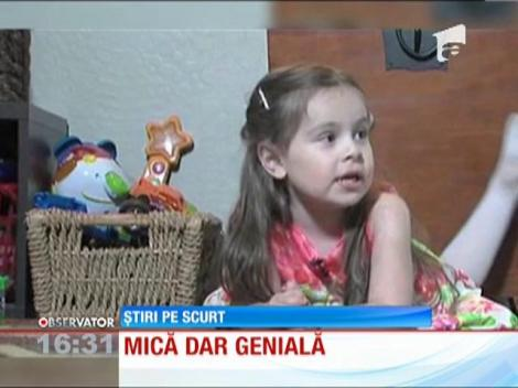 O fetiţă de-o şchioapă a impresionat o lume intreagă! Cu un IQ cât al lui Einstein, copila este cel mai tanar membru MENSA