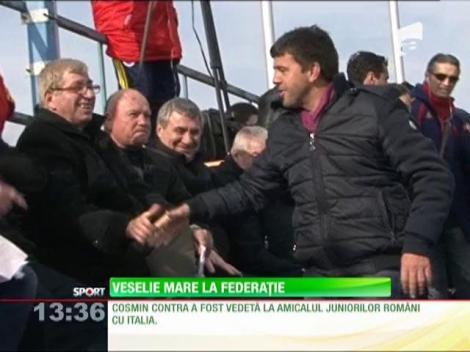 Mircea Sandu şi Anghel Iordănescu, puşi pe glume