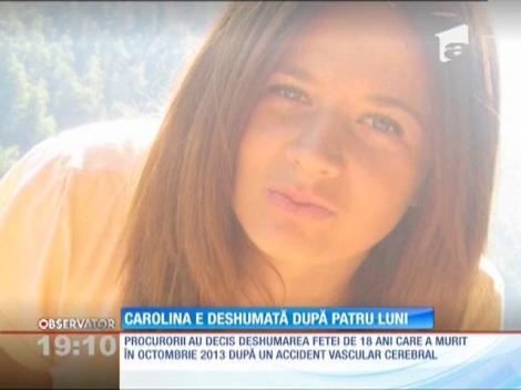 Carolina, eleva moarta după ce s-a prăbuşit la şcoală, a fost deshumată