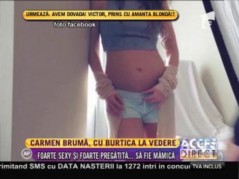Carmen Brumă, şedinţă foto cu burtica la vedere