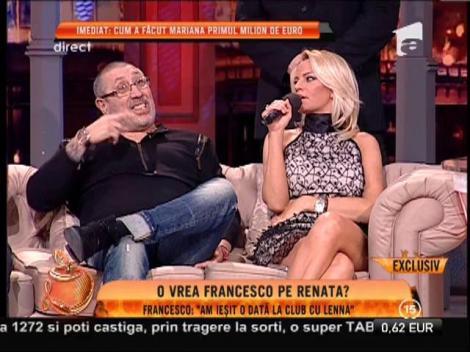 "Francesco: ""N-am avut relații intime cu Mariana Roșca"""