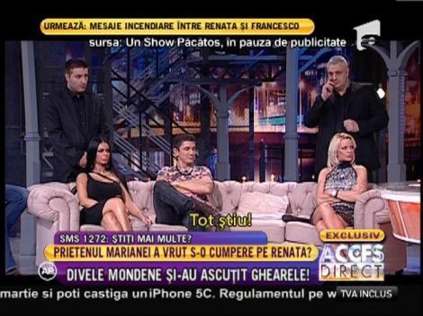 Mariana Roşca, Renata şi Francesco, mesaje periculoase cu parfum de răzbunare
