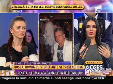 """Renata, despre presupusa discuţie cu Francesco: """"Mesajele nu sunt adevărate"""""""