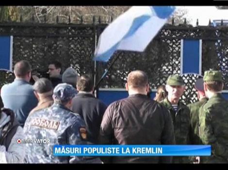 Rusia îşi asigură controlul asupra peninsulei Crimeea