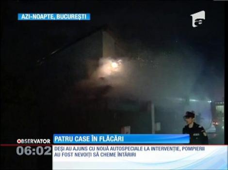Incendiu puternic în Bucureşti