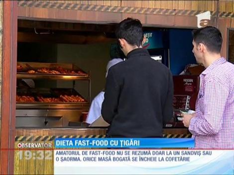 Dieta fast-food cu țigări