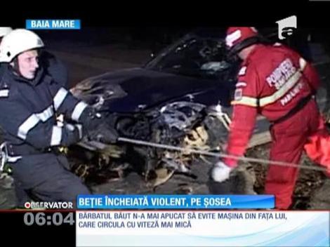 Un şofer băut a provocat un accident pe centura oraşului Baia Mare