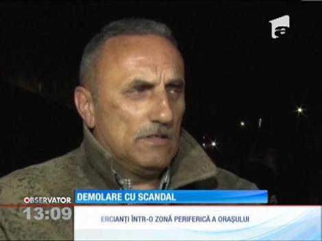 Demolare cu scandal şi blesteme, în Târgovişte