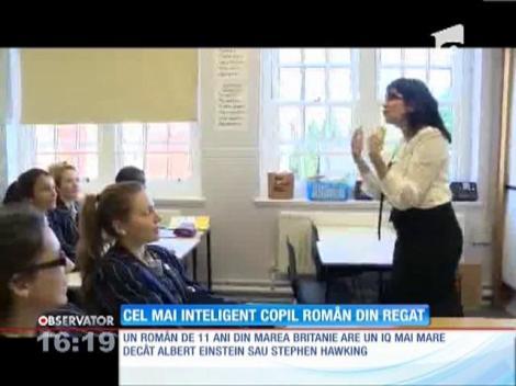 Un copil român de 11 ani a uimit Marea Britanie cu inteligenţa sa