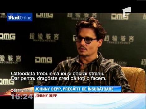 La 50 de ani, Johnny Depp pare decis să renunţe la burlăcie