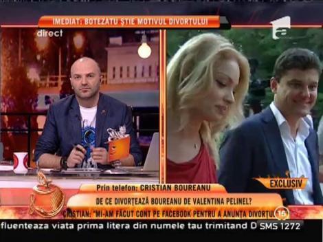 """Cristian Boureanu: """"Divorțăm de comun acord"""""""