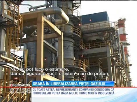 Grabă în liberalizarea pieţei gazului