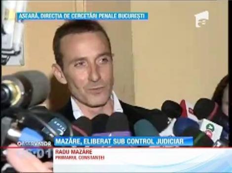 Radu Mazăre a fost eliberat sub control judiciar