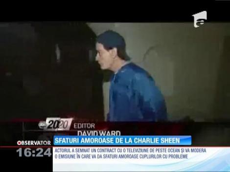 Charlie Sheen va modera o emisiune despre dragoste şi relaţii