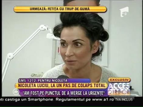 Nicoleta Luciu a leşinat de foame!