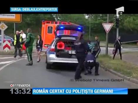 Român certat cu poliţiştii germani