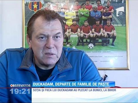 Helmuth Duckadam, departe de familie de Paște