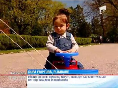 Parcurile, destinaţia preferată de români pentru a doua zi de Paște