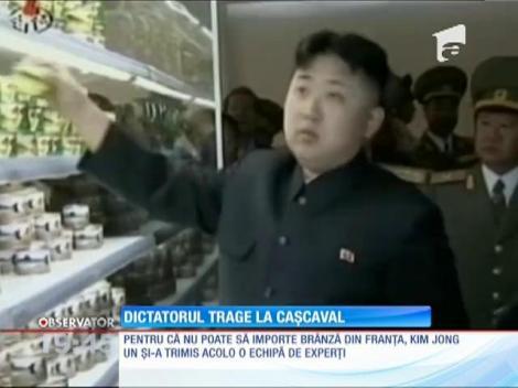 Președintele Coreei de Nord, Kim Jong-un, poftește la brânzeturile franțuzești