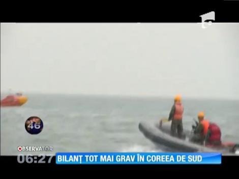Bilanţul celui mai grav naufragiu din Coreea de Sud a trecut de 100 de morţi